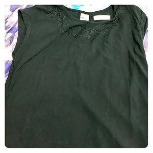 Abercrombie and Fitch black blouse